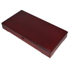 Universal Wood Display Box - 3 Slabs (Sedona Red)