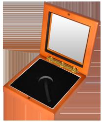 Wide Glass Top Coin Capsule Display Box ( S ) - Light Cedar