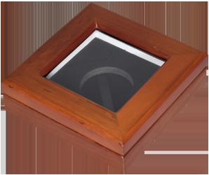 Glass Top Coin Capsule Display Box ( M ) - Teak Brown