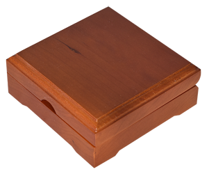 Solid Wood Top Coin Capsule Display Box ( X Capsule ) - Teak Brown