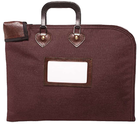 Locking Fire Block Briefcase 18x14 - Burgundy