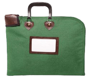 Locking Fire Block Briefcase 18x14 - Hunter Green