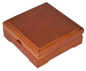 Solid Wood Top Coin Capsule Display Box ( XL ) - Teak Brown