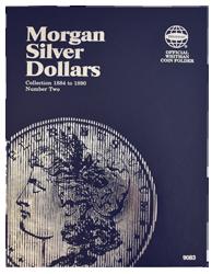 Morgan Silveer Dollar Folder #2 1884 - 1890