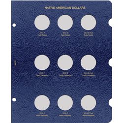 Native American Dollars Album Page 2012 thru 2014 - P, D, and S