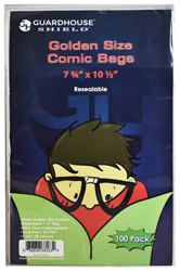 Shield Resealable Bag for Golden Comic Book