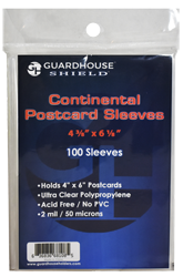 Shield Sleeve for Continental Postcards