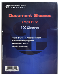 Shield Sleeve for Standard 8.5 x 11 Document