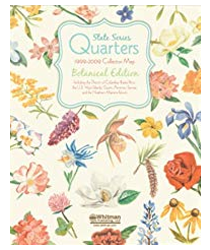 State Series Quarters 1999-2009 Collector Map - Botanical Edition