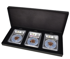 Three Slab Chipboard Certified Coin Gift Box