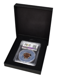 One Slab Black Chipboard Certified Coin Gift Box