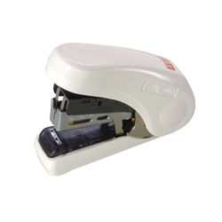 Flat Clinch Stapler - Ergonomic Style (White)