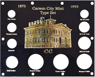 Capital Plastics 1870-1893 Carson City Mint Type Set