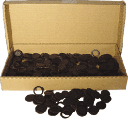 14mm Air Tite Black Rings - Bulk Pack 250