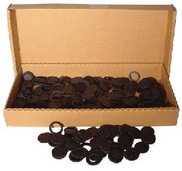 17mm Air Tite Black Rings - Bulk Pack 250 17mm Air Tite Black Ring Bulk Pack, Air Tite, Model A