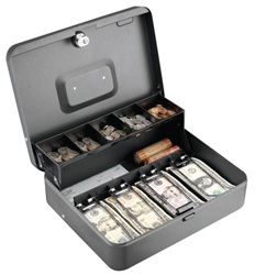 MMF Anti-Theft Security Tiered Cash Box with Bill Weights