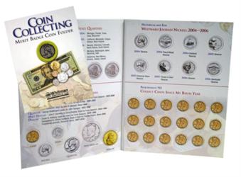 Whitman Merit Badge Folder whitman,coin collecting, merit badge,folder