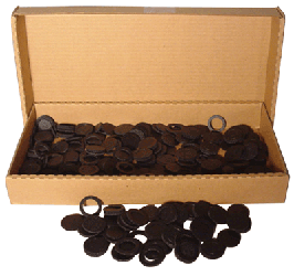 39mm Air Tite Black Rings - Bulk Pack 250 39mm Air Tite Black Ring Bulk Pack, Air Tite, Model I