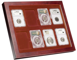 Lighthouse Framed Certified Coin Slab Stand / Wall Mount