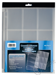 Guardhouse Nine-Pocket Polypropylene Pages 10/Pack