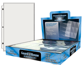 Guardhouse Single Pocket Polypropylene Pages - 100 Pack