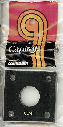 Cent Capital Plastics Coin Holder 144 Type Black 2x2