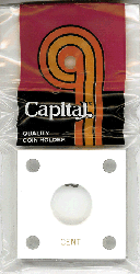 Cent Capital Plastics Coin Holder 144 Type White 2x2