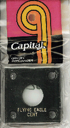 Flying Eagle Capital Plastics Coin Holder 144 Type Black 2x2