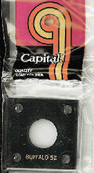 Buffalo Nickel Capital Plastics Coin Holder 144 Type Black 2x2