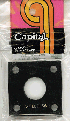 Shield Nickel Capital Plastics Coin Holder 144 Black 2x2