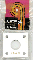 Shield Nickel Capital Plastics Coin Holder 144 Type White 2x2