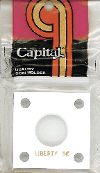 Liberty Nickel Capital Plastics Coin Holder 144 White 2x2