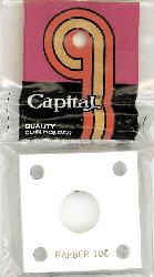 "Capital Plastic #144 Coin Holder /""Barber Dime/"" Black"