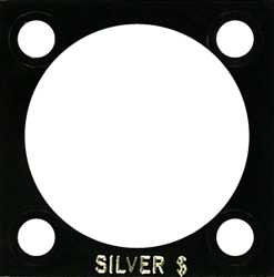 Silver Dollar Capital Plastics Coin Holder 144 Black 2x2