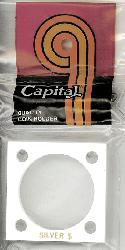 Silver Dollar Capital Plastics Coin Holder 144 White 2x2 Silver Dollar Capital Plastics Coin Holder 144 White, Capital, 144