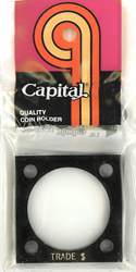 Trade  Dollar Capital Plastics Coin Holder 144 Black 2x2 Trade  Dollar Capital Plastics Coin Holder 144 Black, Capital, 144
