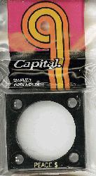 Peace Dollar Capital Plastics Coin Holder 144 Black 2x2 Peace Dollar Capital Plastics Coin Holder 144 Black, Capital, 144