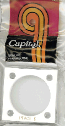 Peace Dollar Capital Plastics Coin Holder 144 White 2x2 Peace Dollar Capital Plastics Coin Holder 144 White, Capital, 144