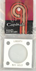 Morgan Dollar Capital Plastics Coin Holder 144 White 2x2 Morgan Dollar Capital Plastics Coin Holder 144 White, Capital, 144