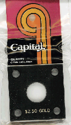 $2.50 Gold Capital Plastics Coin Holder 144 Black 2x2