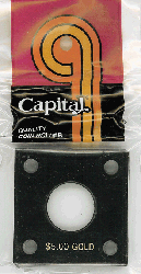 $5 Gold Capital Plastics Coin Holder 144 Black 2x2