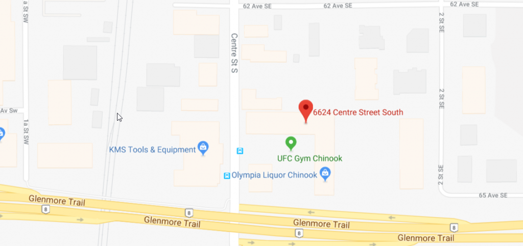 Calgary Map Location Screenshot