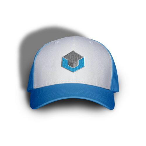 Ctrl V Hat White Blue
