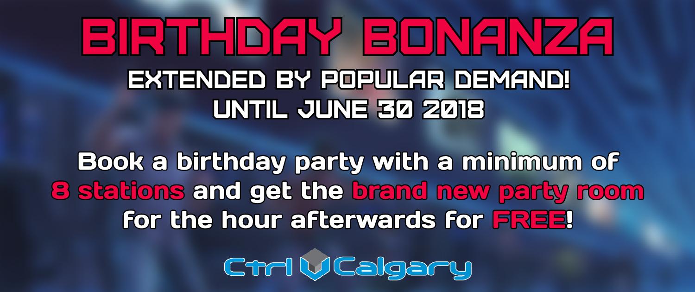 Calgary Birthday Bonanza Slider