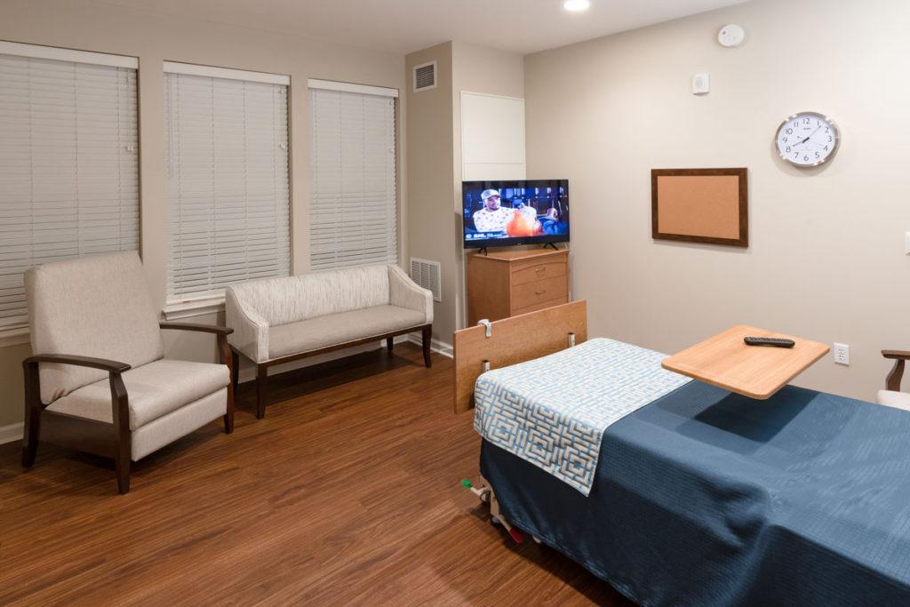 A private room in The Culpeper senior living community