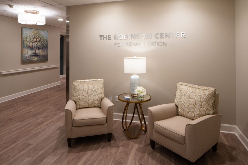 A photo of The Robinson Center for Rehabilitation waiting room
