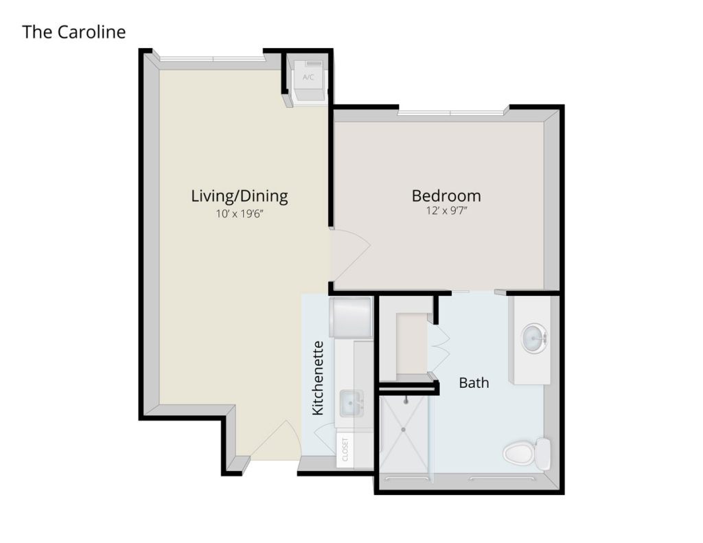 The Caroline senior apartment floor plan