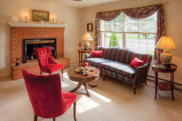 A living room in the senior living homes at The Culpeper senior living community