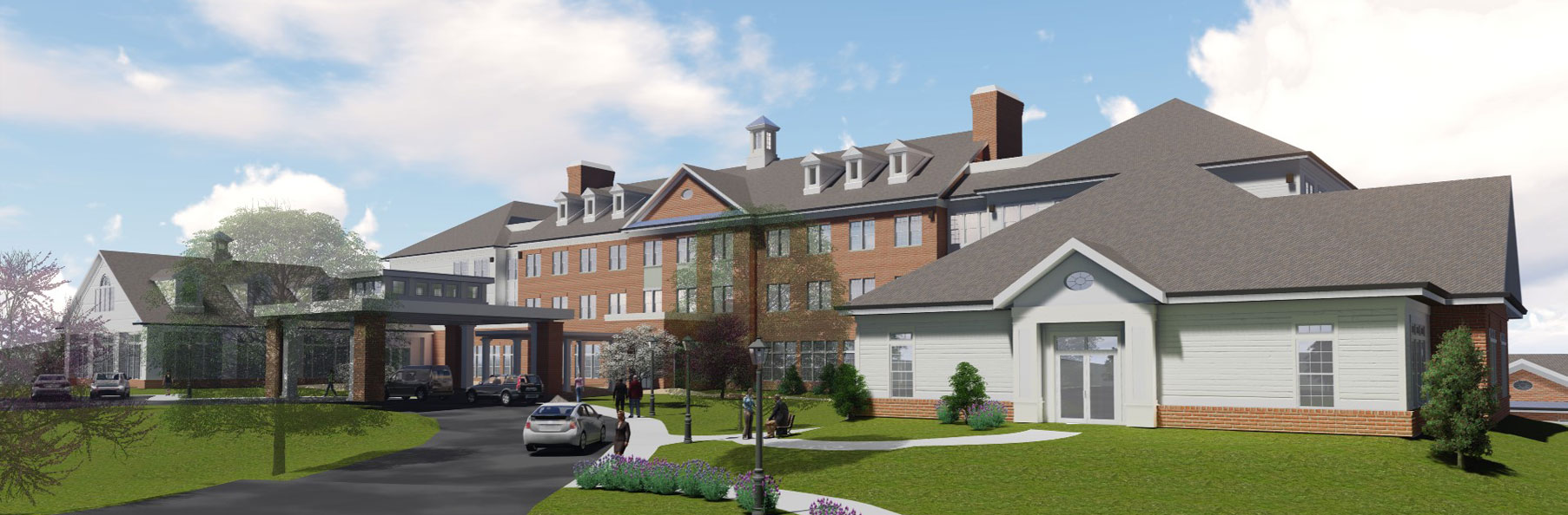 A rendering of The Culpeper senior living community