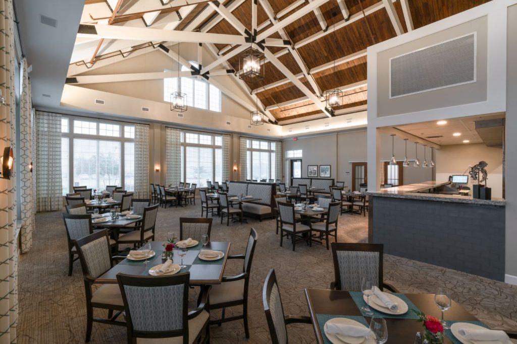 The dining room at The Culpeper retirement community in Virginia